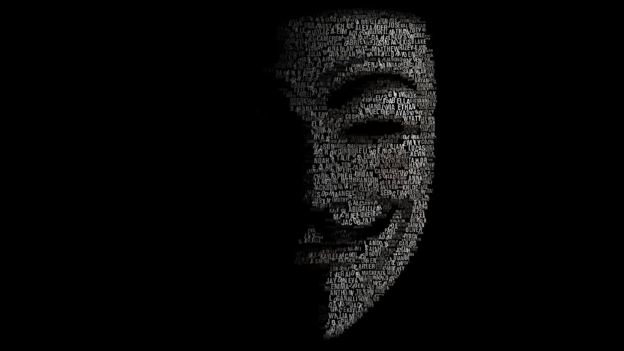 FACE OF THE LETTERS - movie mask wallpaper