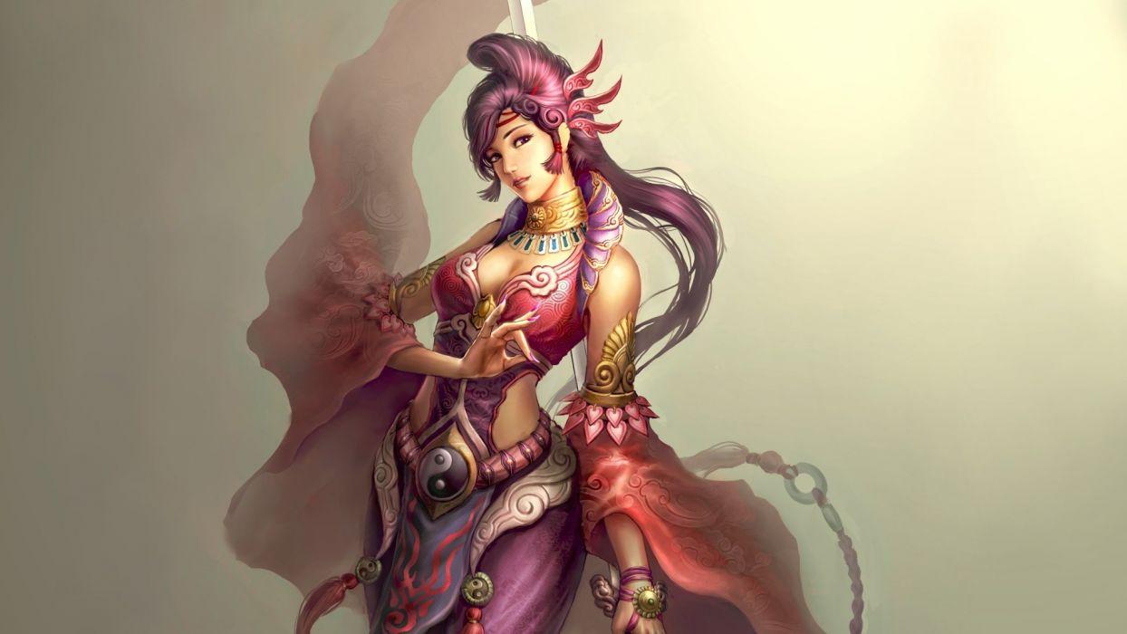FEMALE TAOIST - art girl wallpaper