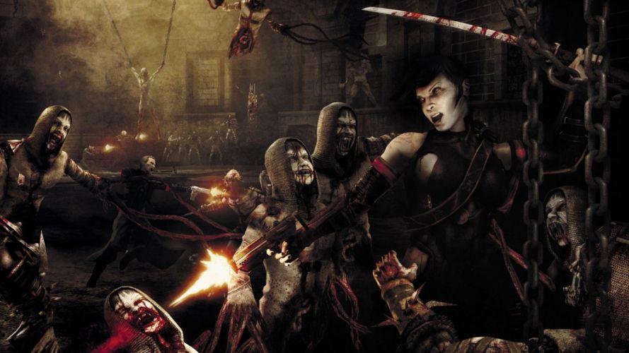 WARRIOR - girl undead gun sword wallpaper