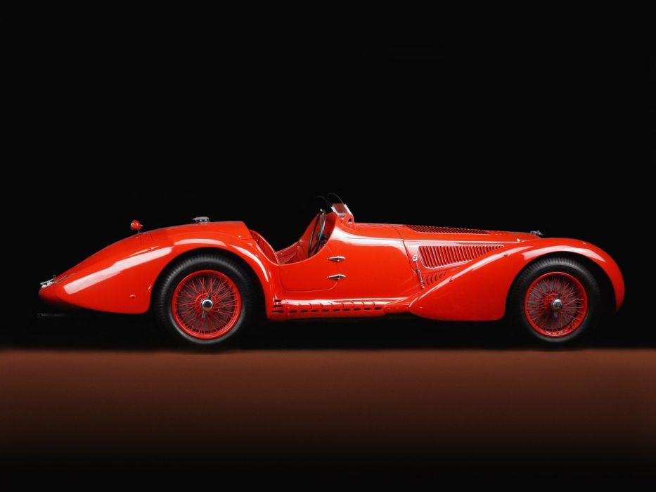 1938 Alfa Romeo 8-C 2900 Mille Miglia Spider retro wallpaper