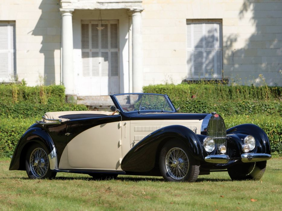 1937 Bugatti Type-57C Stelvio Cabriolet Gangloff 57467 luxury retro wallpaper