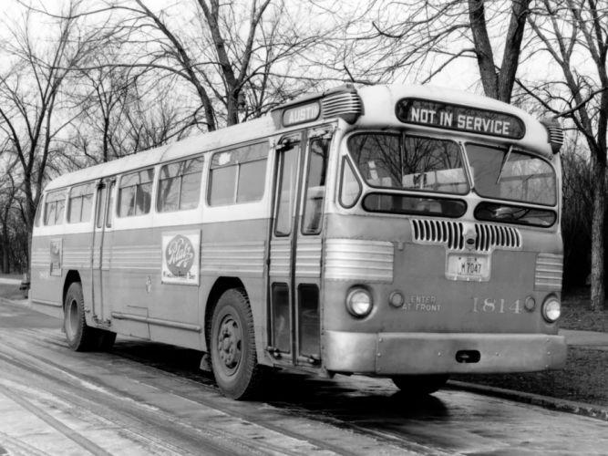 1946 Twin Coach Model-44-D bus transport retro semi tractor wallpaper