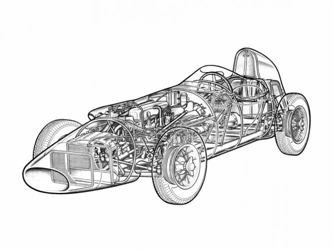 Stanguellini Formula Junior f-1 race racing retro wallpaper