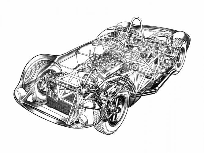 1961-63 Chaparral 1 supercar race racing wallpaper