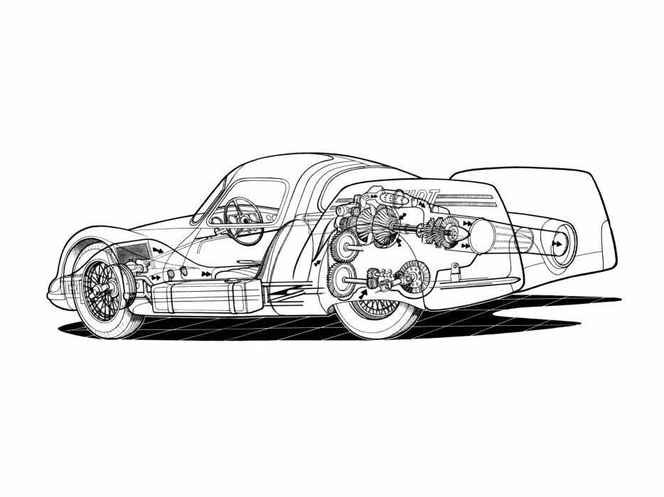1954 Fiat Turbina Concept Jet Wallpaper 3700x2775 483596