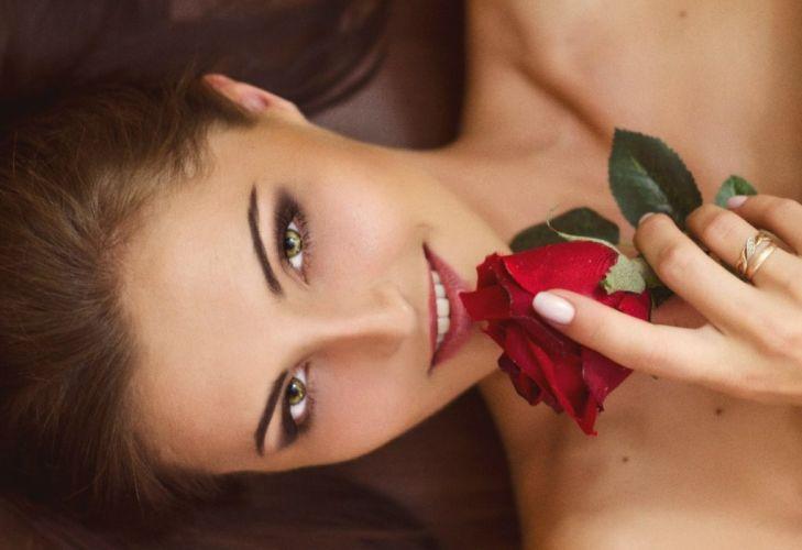 model lady beauty soft pretty beautiful roses wallpaper