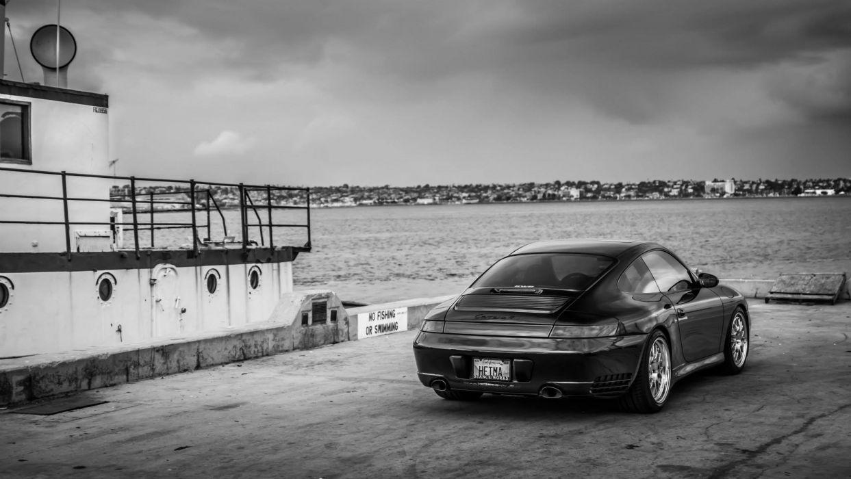 Porsche Carrera-4S black cars wallpaper