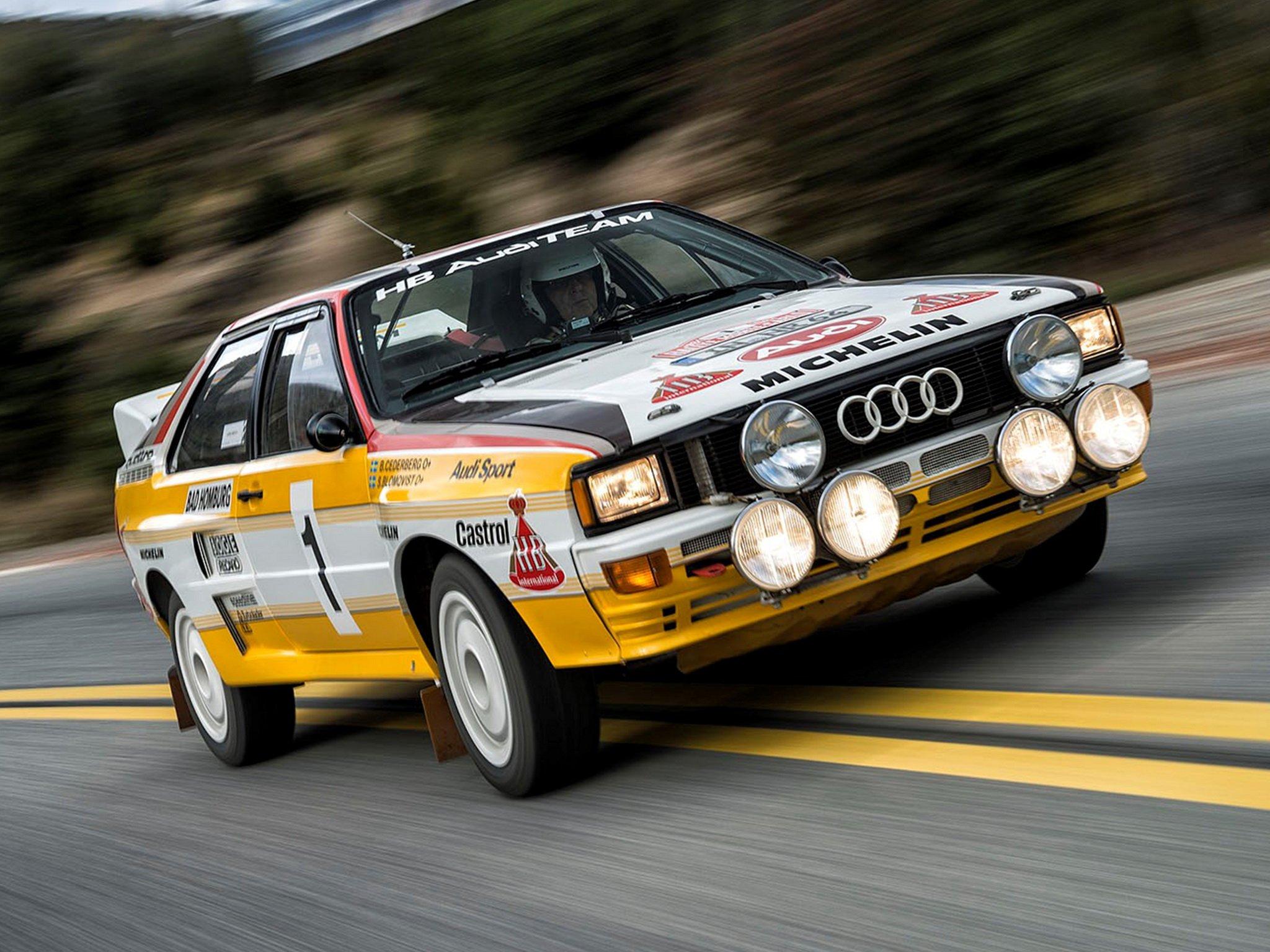 1983 85 Audi Quattro Group B Rally Car Typ 85 Wrc Race
