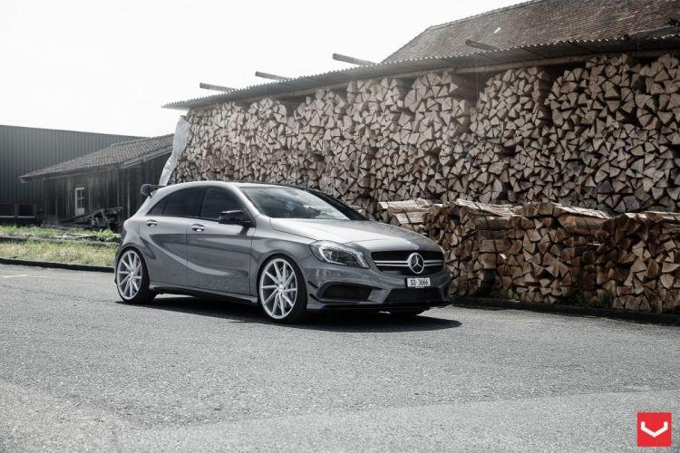 vossen wheels tuning Mercedes Benz A45 AMG wallpaper