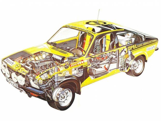 1976 Opel Kadett GTE Rally race racing wrc wallpaper