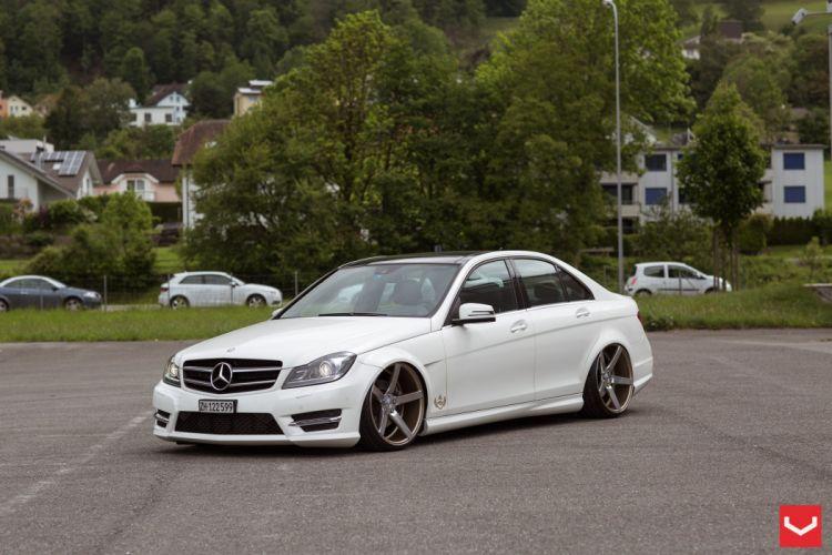 vossen wheels tuning Mercedes Benz C-Class AMG wallpaper