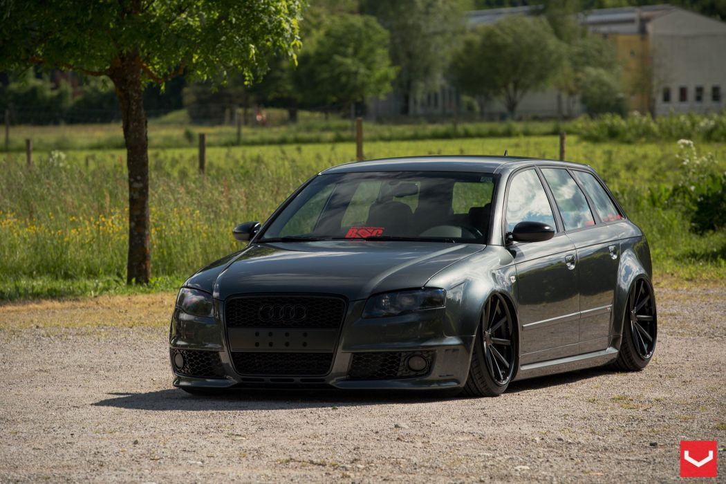 vossen wheels tuning audi rs4 avant wallpaper