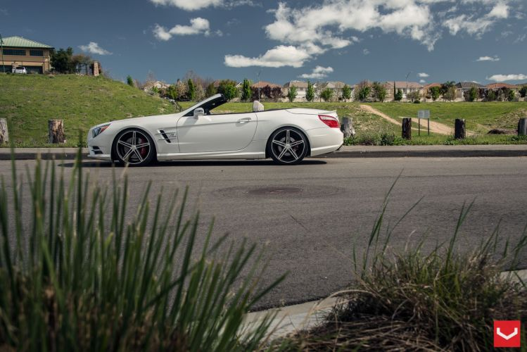 vossen wheels tuning audi Mercedes-SL wallpaper