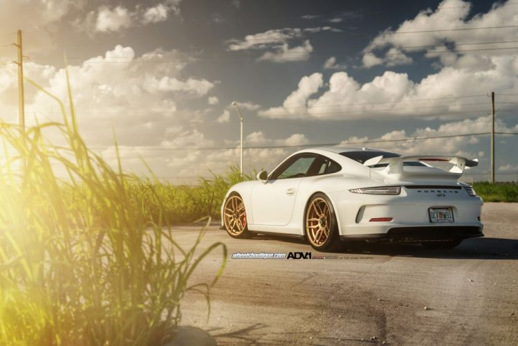 2014 ADV1 wheels porsche 911-gt3 tuning cars wallpaper