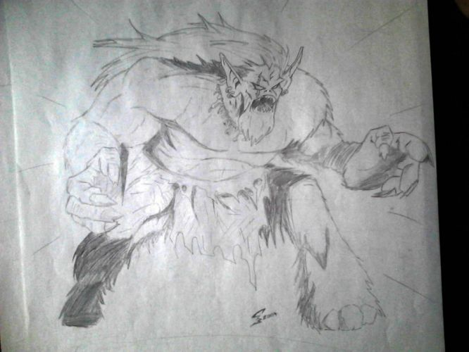 orc the ork wallpaper