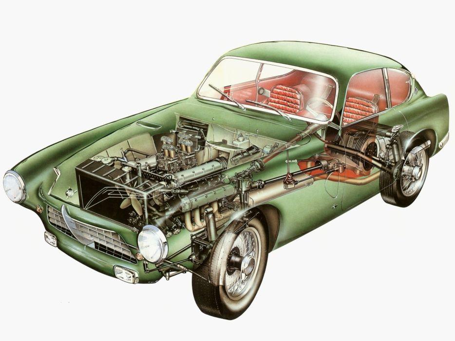 1956 Pegaso Z-102B Coupe Saoutchik retro wallpaper