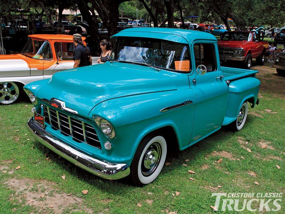 1956 Chevrolet 3100 Pickup retro wallpaper
