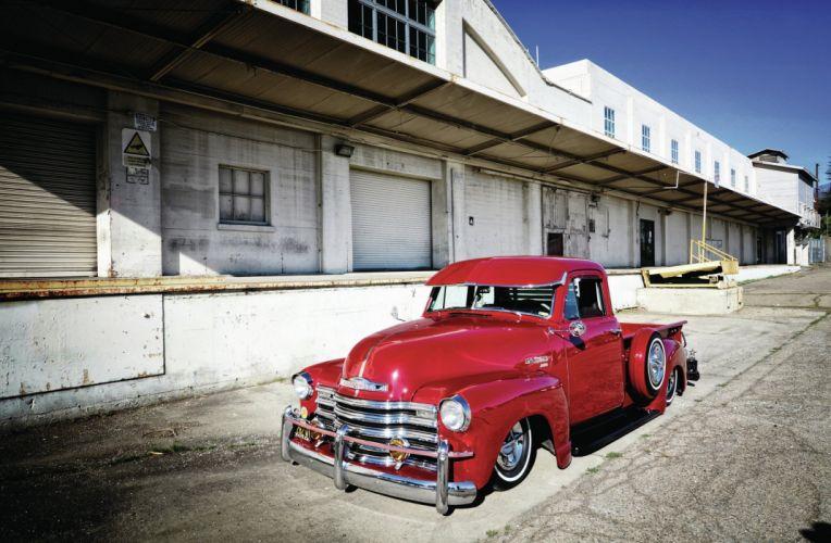 1951 Chevrolet 3100 Pickup retro lowrider wallpaper