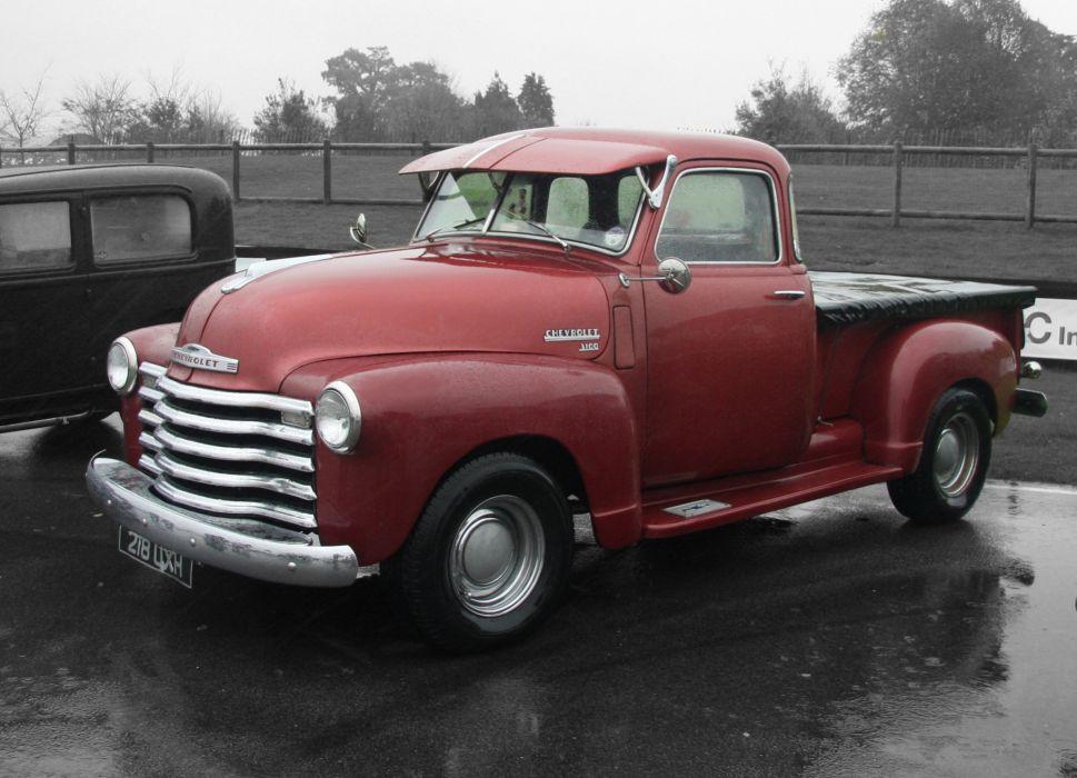 1951 Chevrolet 3100 Pickup retro hot rod rods wallpaper