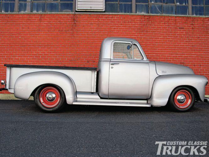 1951 Chevrolet 3100 Pickup retro hot rod rods lowrider wallpaper