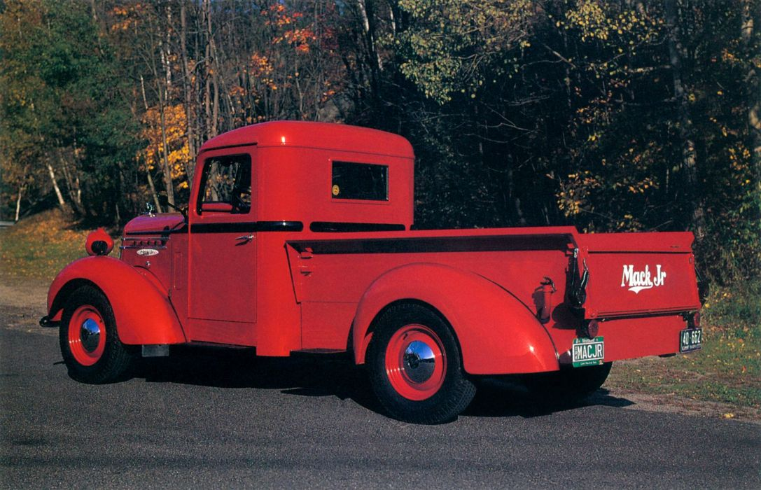 1937 Mack Jr Pickup retro wallpaper