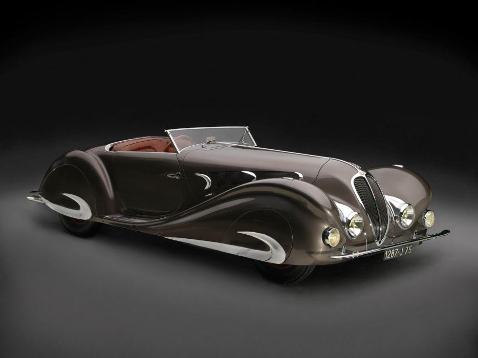 1937 Delahaye 135 M-S Special Roadster Figoni Falaschi (48563) retro luxury wallpaper