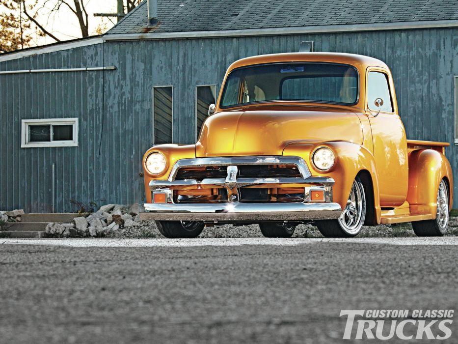 1954 Chevrolet 3100 Pickup retro hot rod rods wallpaper