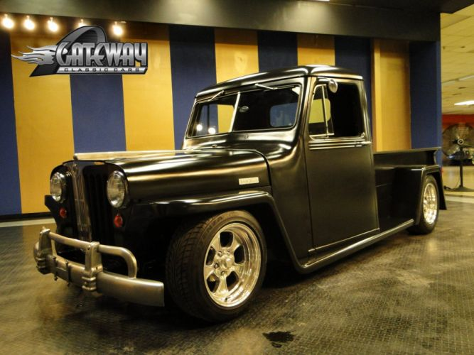 Willys Hot Rod >> 1948 Willys Jeep Truck hot rod rods retro pickup wallpaper | 2048x1536 | 484357 | WallpaperUP