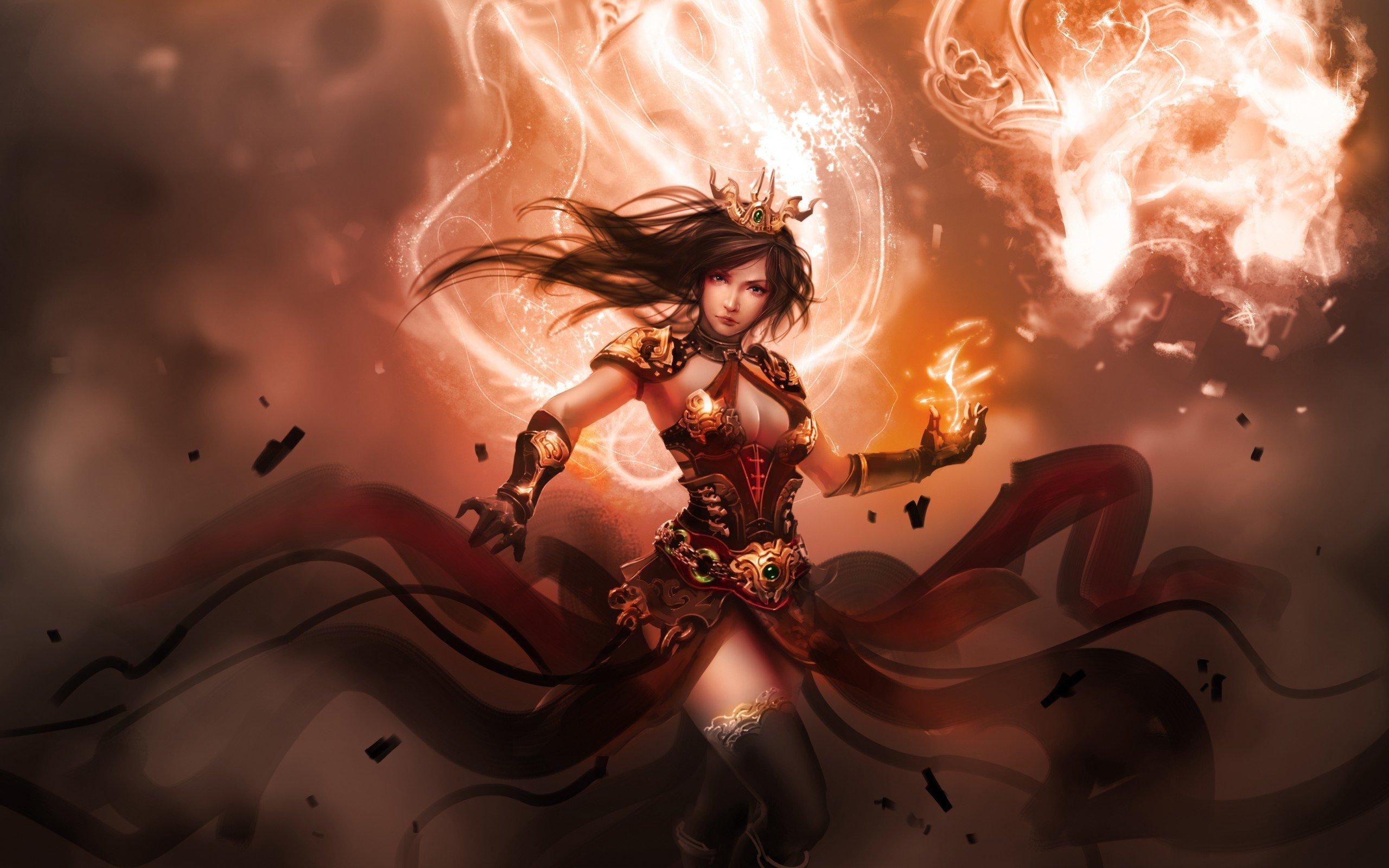 Fantasy Girl Power Wallpaper