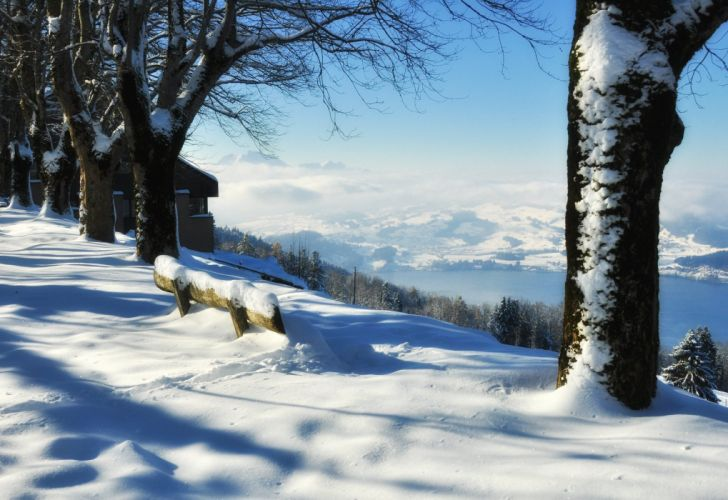 snow landscape white beautiful tree mountain home forest wallpaper