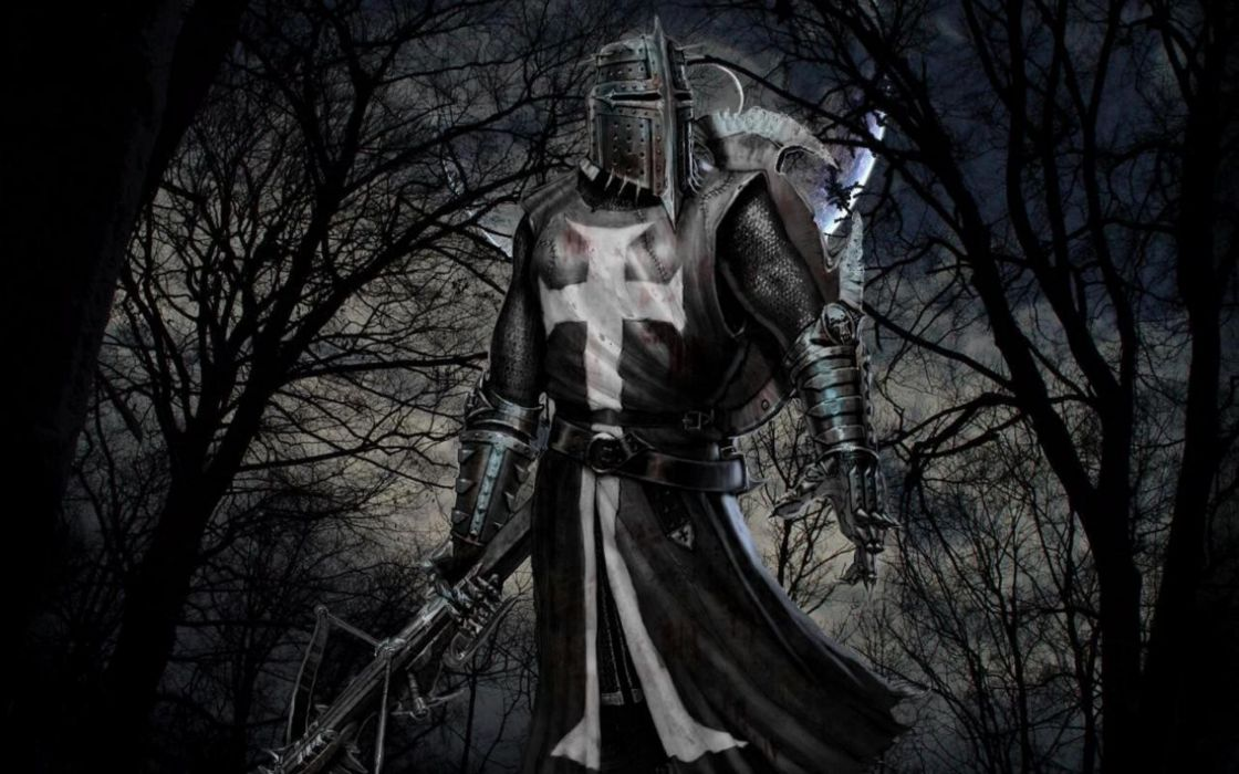 DARK KNIGHT - medieval armor bow wallpaper