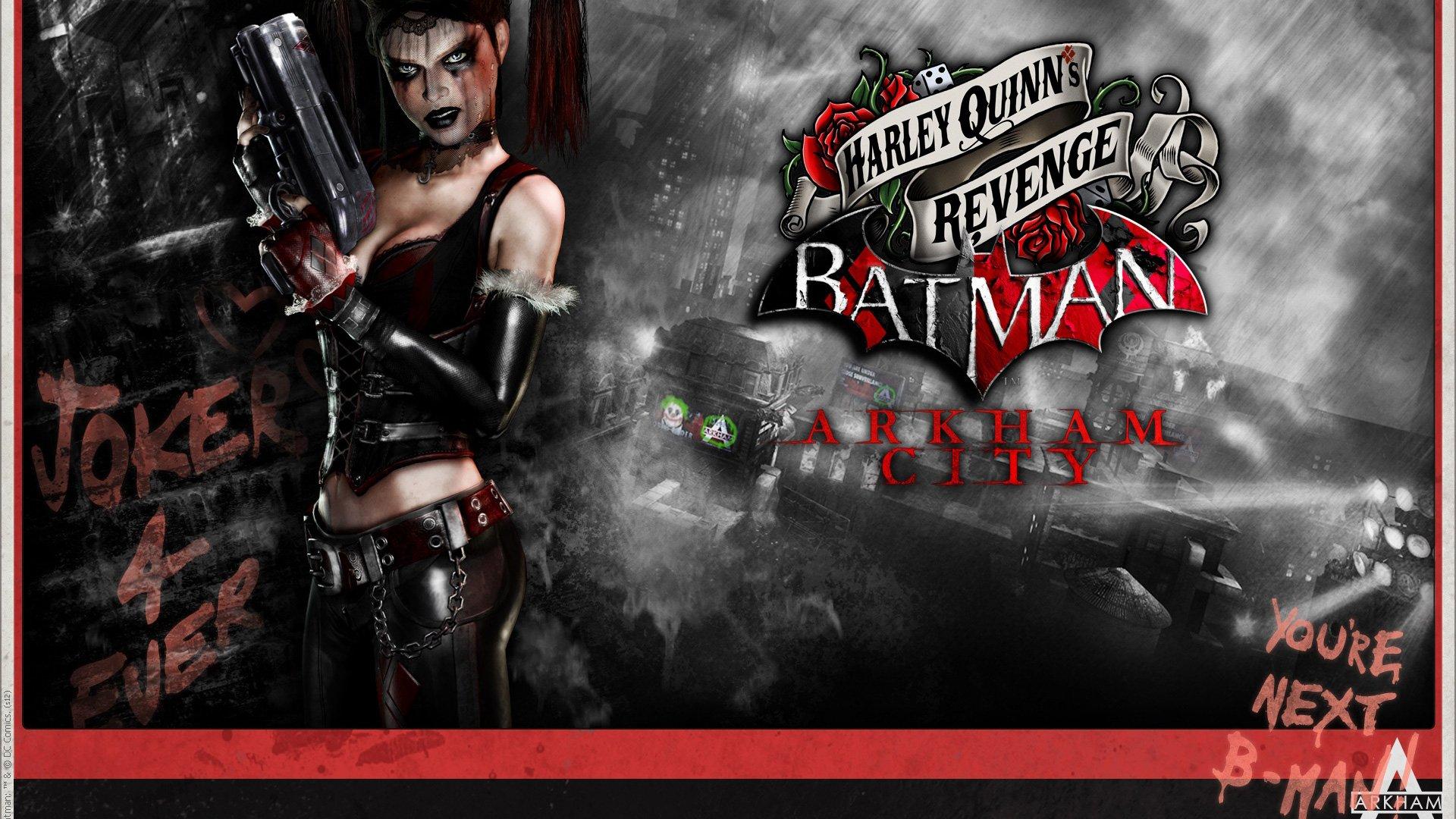 Harley Quinn Batman Arkham Revenge Heroes Wallpaper
