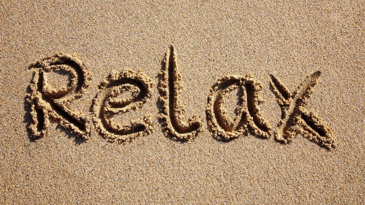 RELAX - sand beach wallpaper