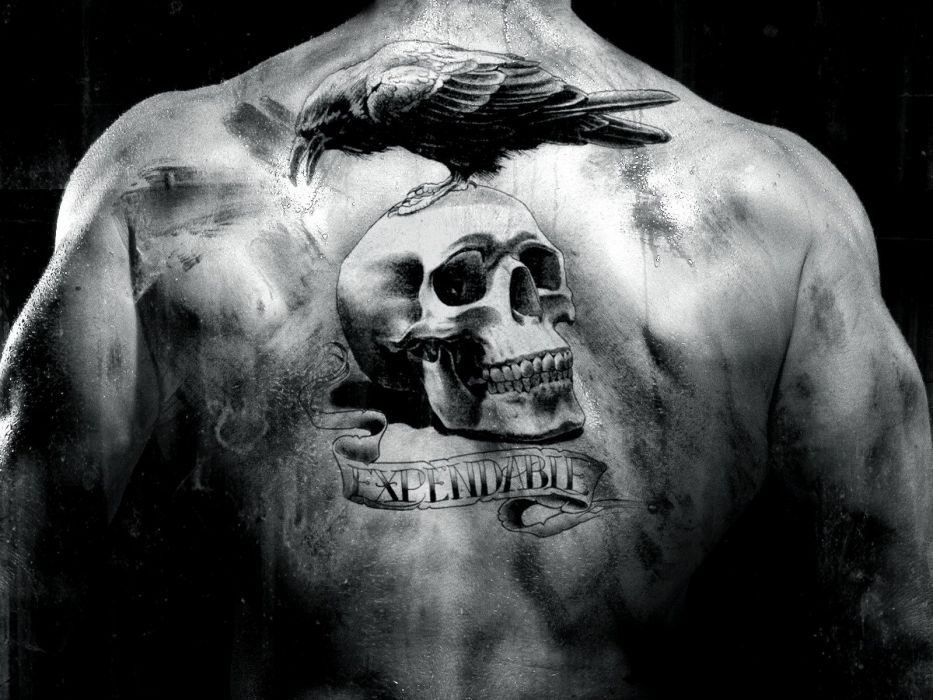 TATTOO - expendables movie skull raven wallpaper
