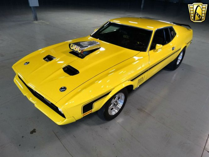 1972 Ford Mustang Mach-1 muscle classic hot rod rods wallpaper