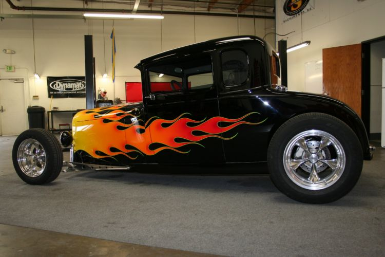 1930 Ford Model-A Coupe hot rod rods retro wallpaper