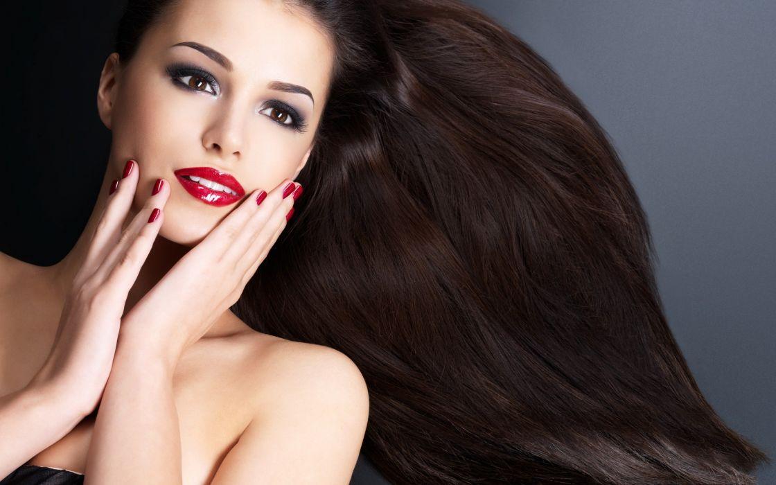 red lips hair hands eyes face lips woman beauty wallpaper