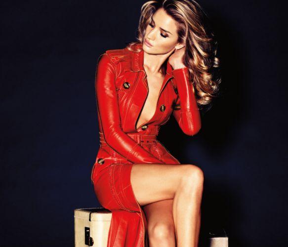 model girl blond red wallpaper