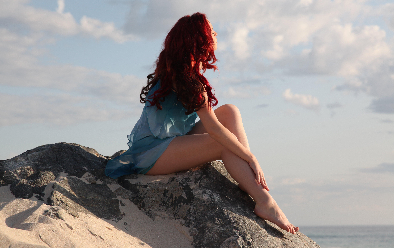 Фото рыжеволосых девушек со спины 16 фотография