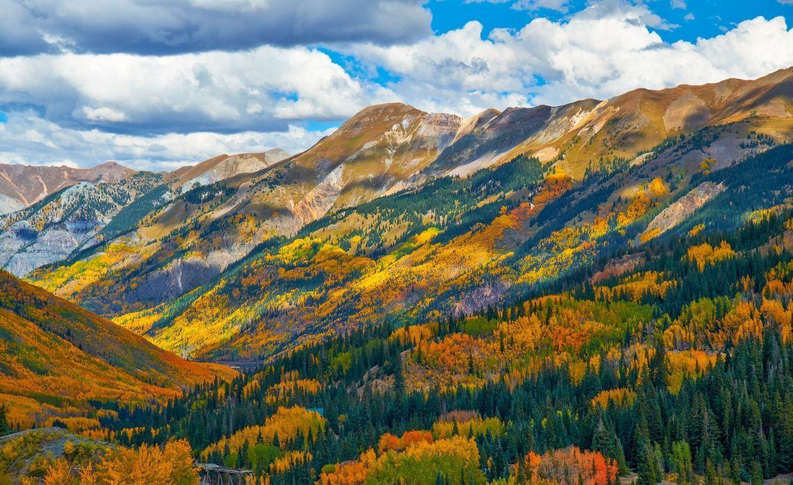 mountain forest forest colorado autumn usa wallpaper