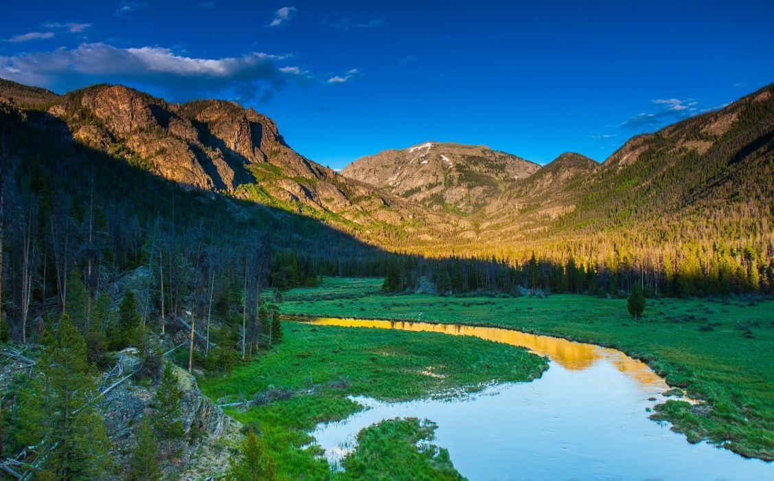 National Park Rocky Mountain Rocky Mountain Grand Lake wallpaper