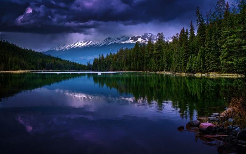 Valley of Five Lakes Jasper National Park Jasper Alberta Canada wallpaper