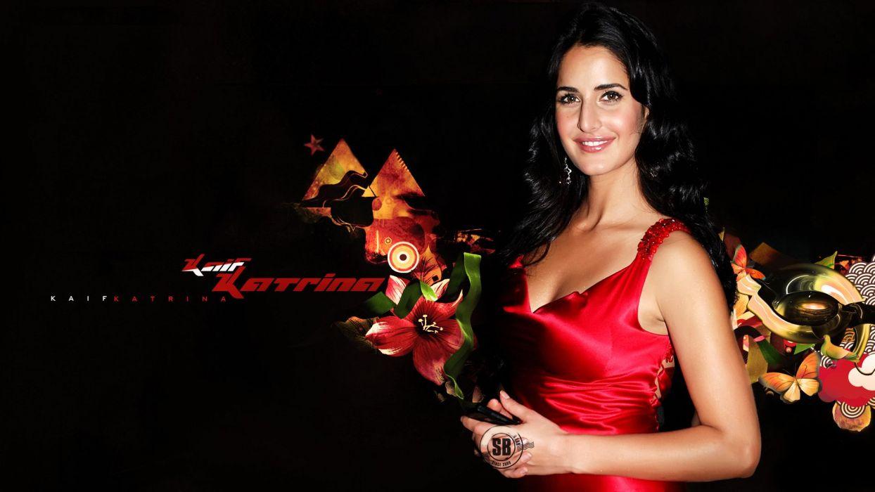 red dress beautiful Katrina kaif nice smile sexy wallpaper