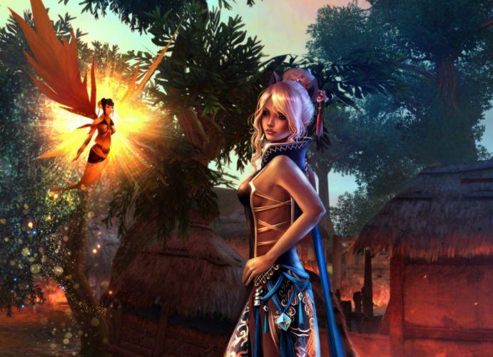 Fairies Blonde girl Dress Fantasy Girls fairy wallpaper