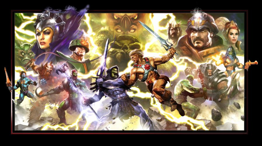 Heroes comics Warrior Battle Monster He-Man Skeletor Evil-Lyn Trap Jaw Ram Man Man-At-Arms She-Ra He-Man and the Masters of the Universe Tri-Klops Man-E-Faces Swords Games Fantasy wallpaper