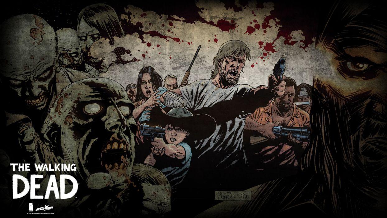 Heroes Comics Zombie Men The Walking Dead TV Fantasy Dark Horror Wallpaper