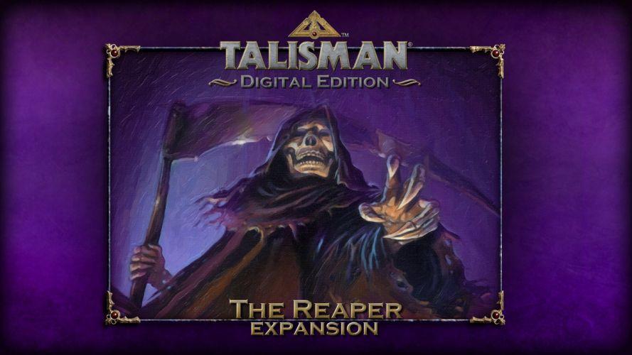 TALISMAN DIGITAL EDITION fantasy board fighting rpg online dark reaper skull wallpaper