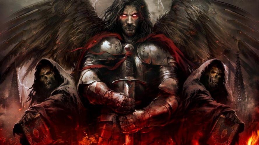 ANGEL WARRIOR - sword warrior fantasy wallpaper