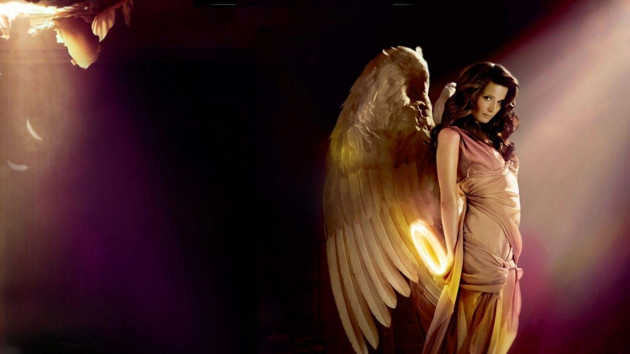 ANGEL WITHOUT AUREOLE - girl art wallpaper