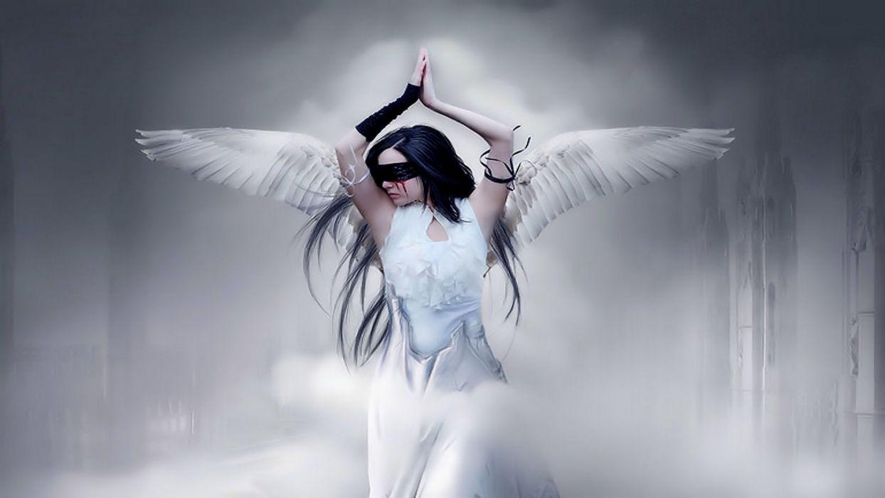 BLINDFOLDED ANGEL - fantasy girl wallpaper